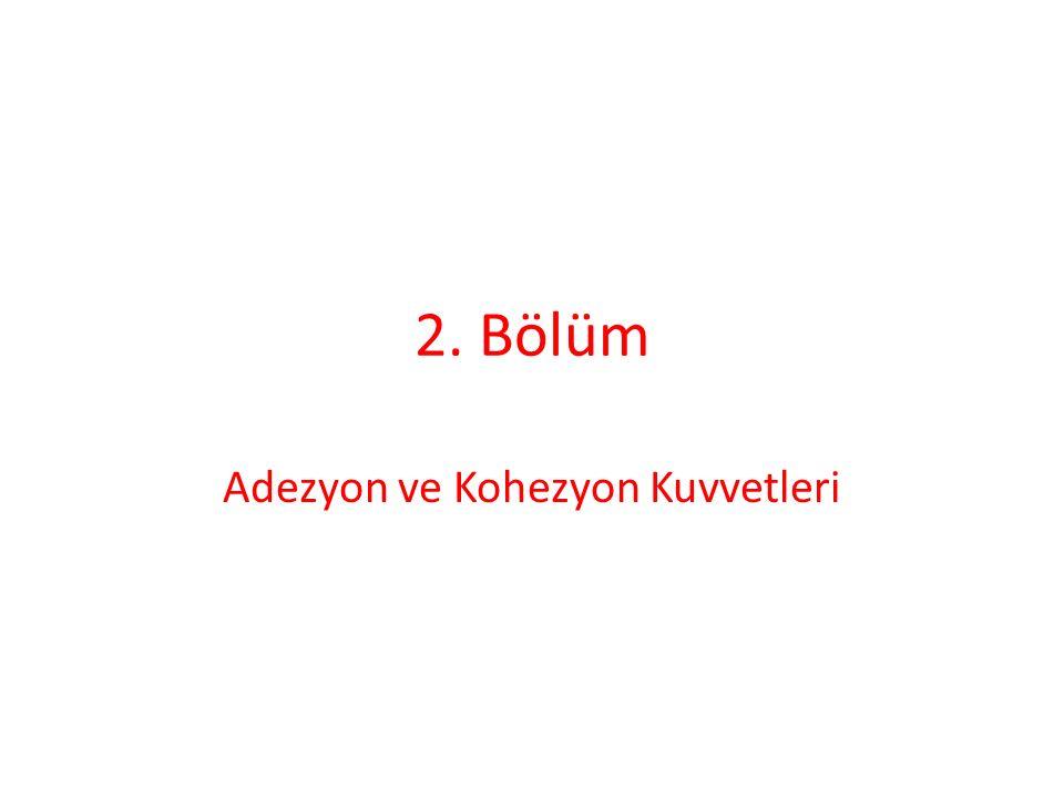 2. Bölüm Adezyon ve Kohezyon Kuvvetleri