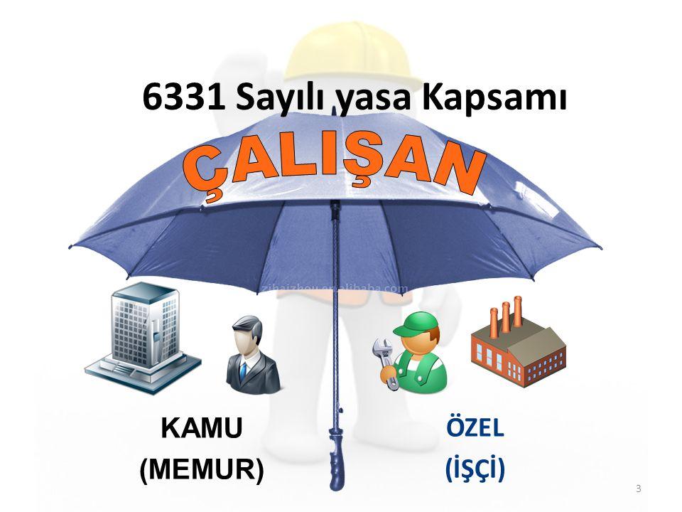 6331 Sayılı yasa Kapsamı KAMU (MEMUR) ÖZEL (İŞÇİ) 3