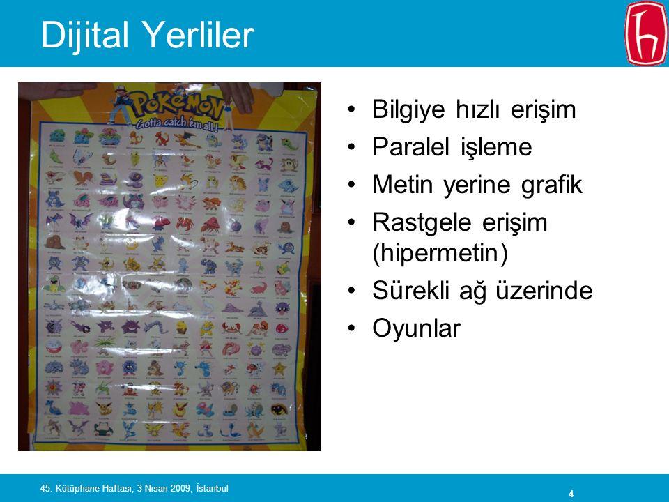 5 45. Kütüphane Haftası, 3 Nisan 2009, İstanbul Dijital Göçmenler