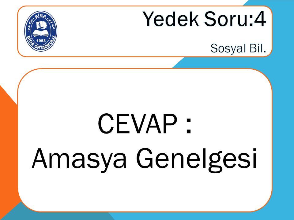 CEVAP : Amasya Genelgesi