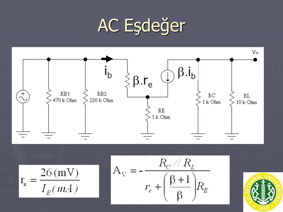 AC Eşdeğer ibib  i b  r e