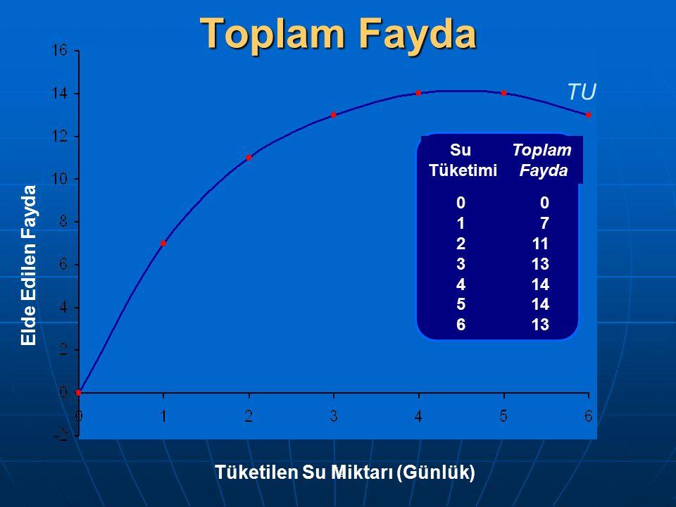 fig Su of crisps TU in utils 01234560123456 0 7 11 13 14 13 Elde Edilen Fayda Tüketilen Su Miktarı (Günlük) TU Toplam Fayda Su Tüketimi Toplam Fayda 0