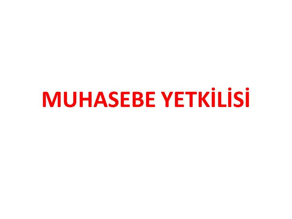 MUHASEBE YETKİLİSİ