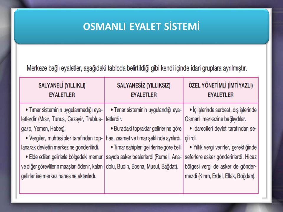 OSMANLI EYALET SİSTEMİ