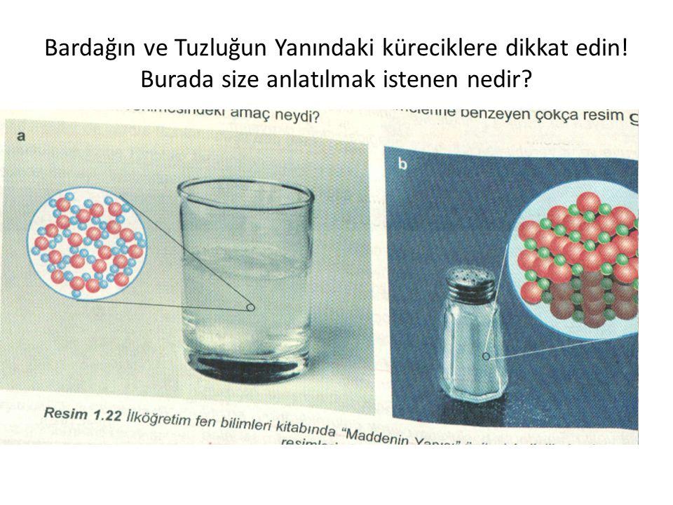 Bardağın ve Tuzluğun Yanındaki küreciklere dikkat edin! Burada size anlatılmak istenen nedir?
