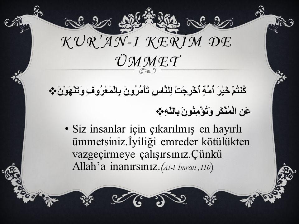 Emri bil maruf imiş İhvan-ı İslam'ın işi Nehy edermiş bir kötülük görse kardeş kardeşi… ( MEHMET AKİF ERSOY )