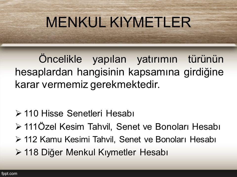 Özel / Kamu Kesim Tahvil, Senet Ve Bonoları Hesabı Temel olarak ihraç gününde tahvil ve bono satın alındığında alış maliyeti üzerinden hesabın borç tarafına kayıt yapılmaktadır.