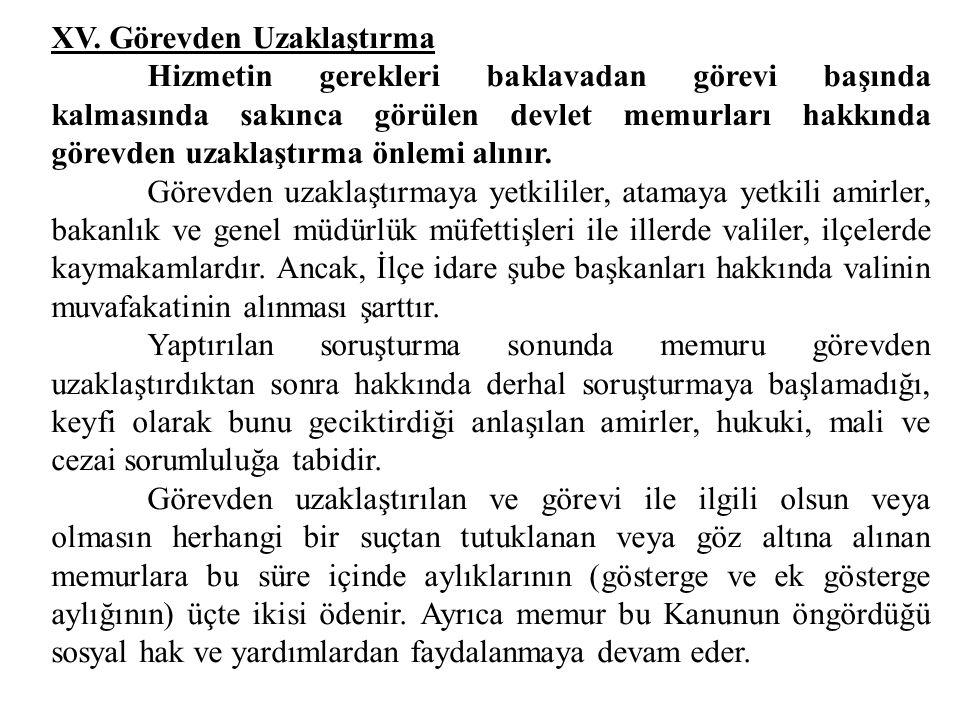 Aylıktan kesme ve kademe ilerlemesinin durdurulması cezası verilmiş olan memurlar bu cezaların uygulanmasından on sene sonra atamaya yetkili amire baş