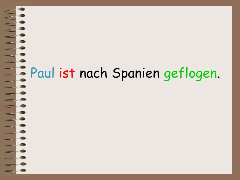 Paul ist nach Spanien geflogen.