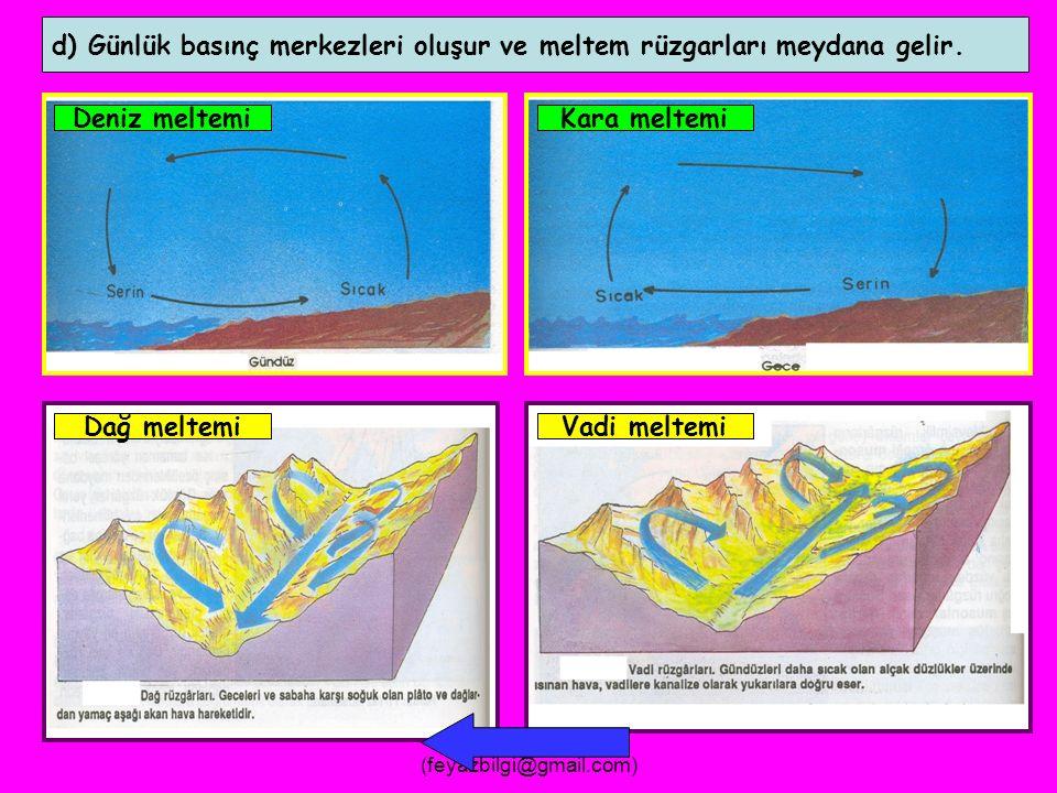 FEYAZ BİLGİ (feyazbilgi@gmail.com) c) Özellikle çöllerde mekanik çözülme ( fiziksel parçalanma ) meydana gelir.