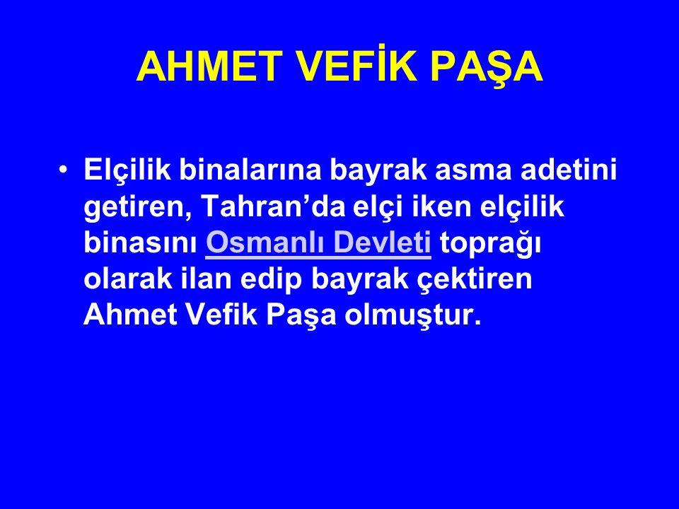AHMET VEFİK PAŞA 1857'de kısa bir süre için Adalet Bakanlığı görevine getirildi.
