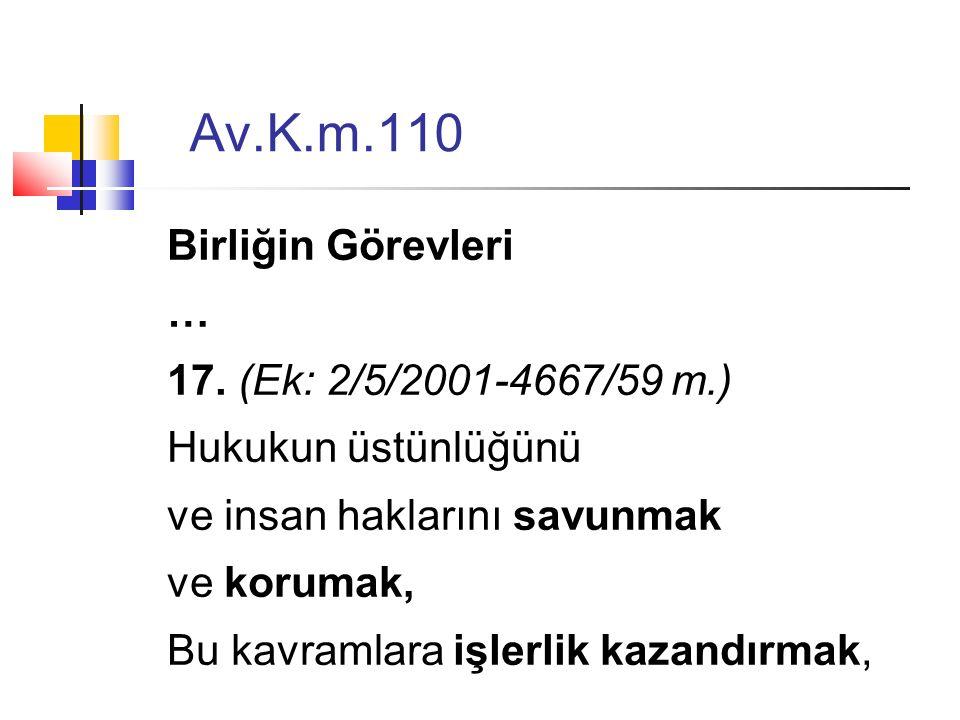 Av.K.m.110 Birliğin Görevleri … 17.