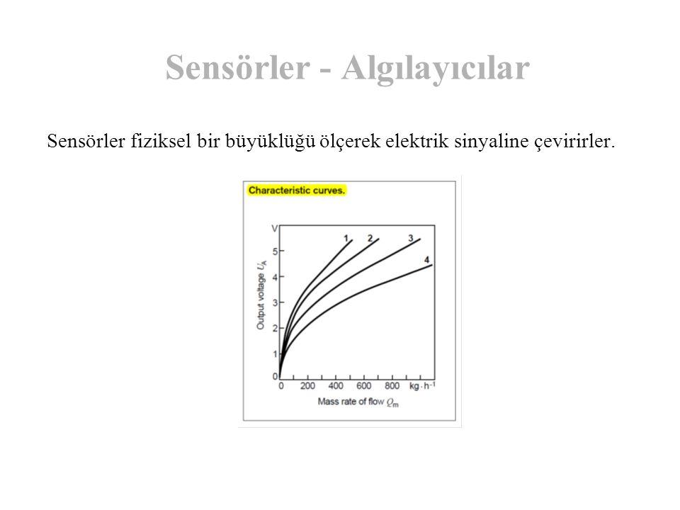 Sensörler - Algılayıcılar Sensörler fiziksel bir büyüklüğü ölçerek elektrik sinyaline çevirirler.