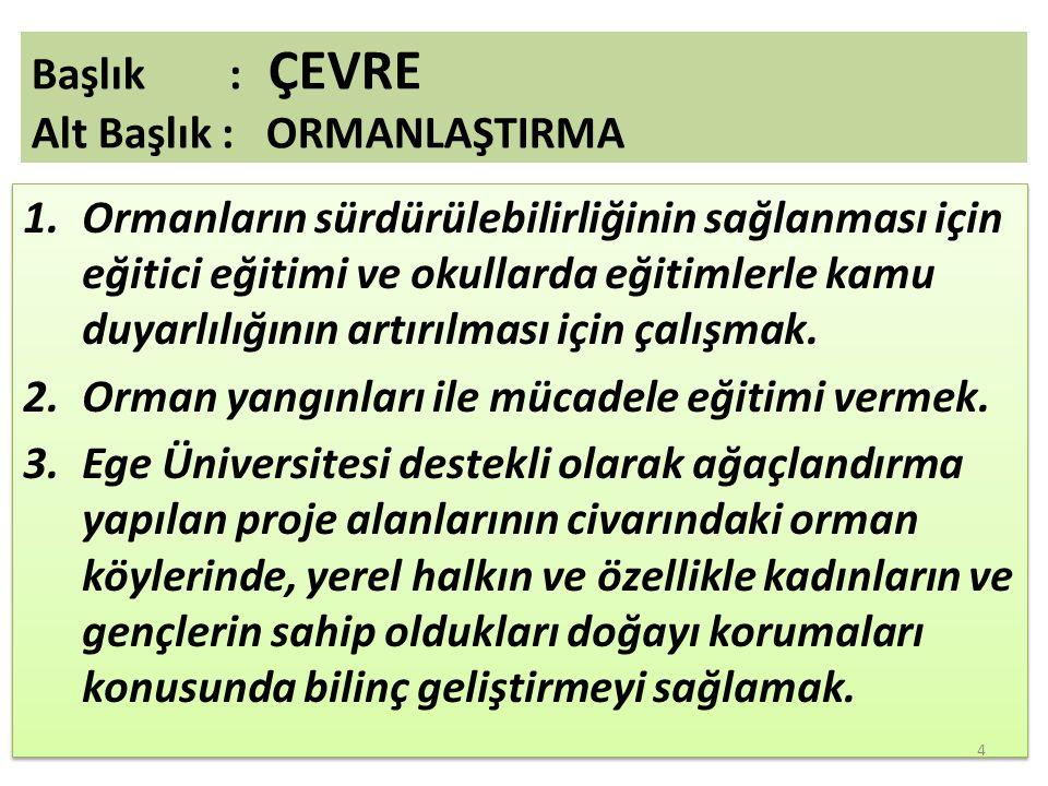1.Ege Üniversitesi Bağımlılık Merkezi, 2.İdrar Yolu Enfeksiyonu ile Mücadele ve Koruma Derneği(İEM).