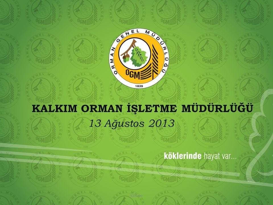 KALKIM ORMAN İŞLETME MÜDÜRLÜĞÜ 13 Ağustos 2013 Kalkım