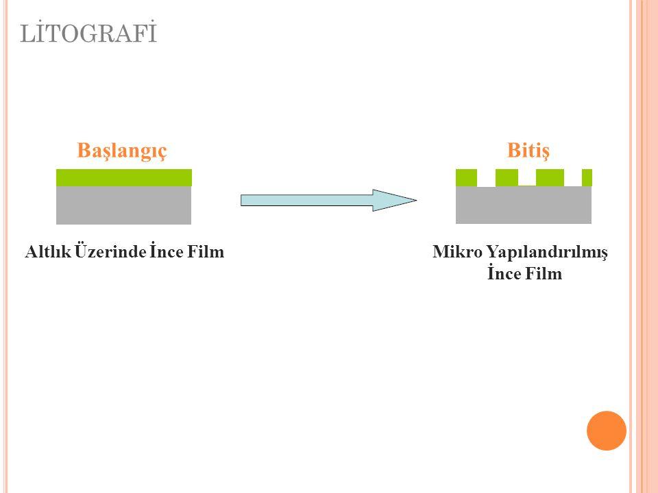 LİTOGRAFİ BaşlangıçBitiş Altlık Üzerinde İnce FilmMikro Yapılandırılmış İnce Film