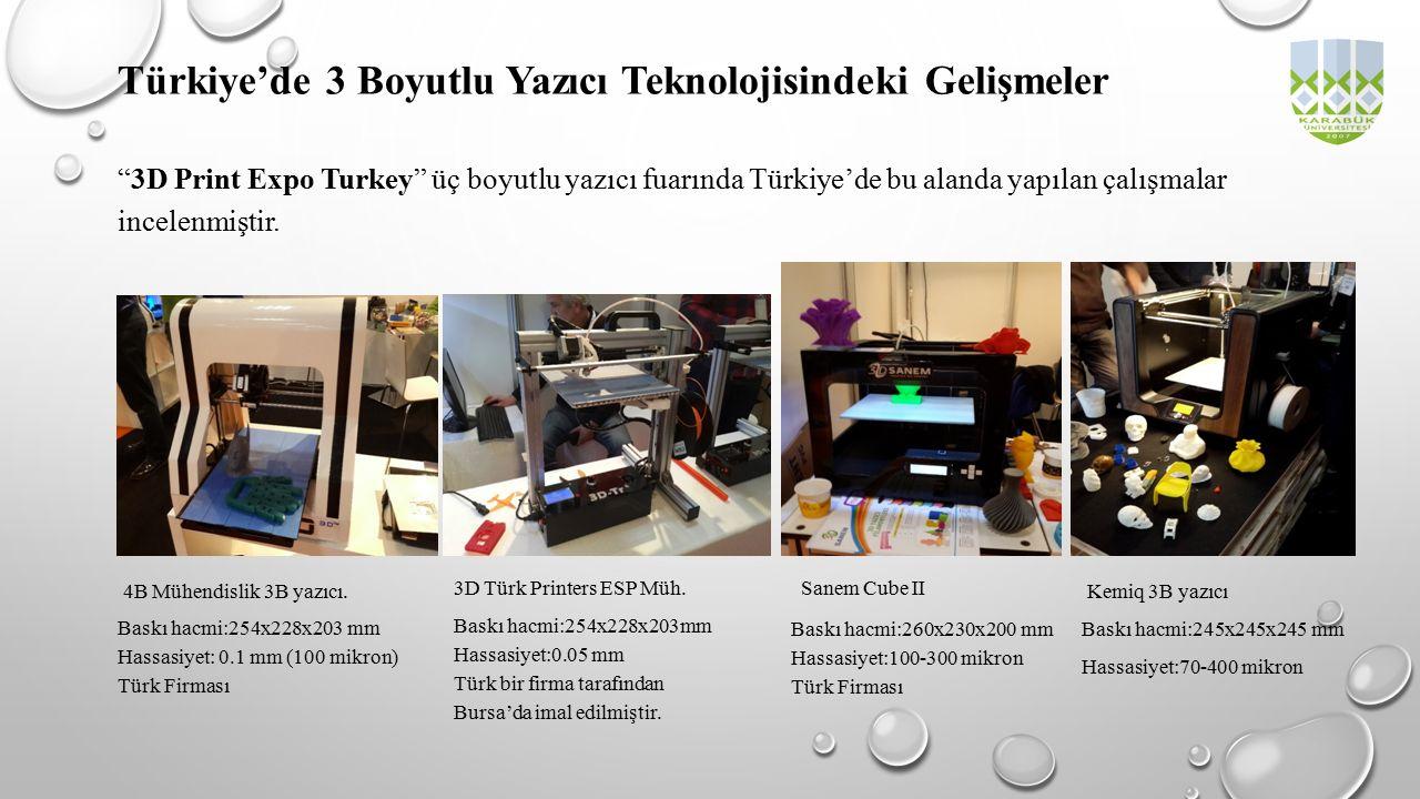 """""""3D Print Expo Turkey"""" üç boyutlu yazıcı fuarında Türkiye'de bu alanda yapılan çalışmalar incelenmiştir. Türkiye'de 3 Boyutlu Yazıcı Teknolojisindeki"""