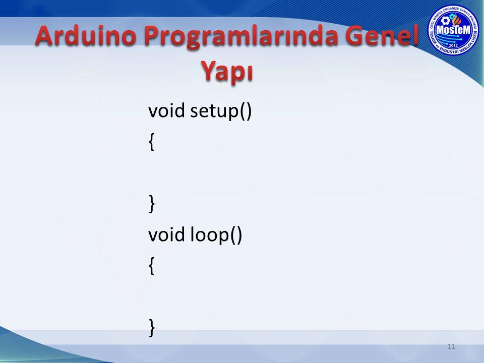 void setup() { } void loop() { } 11