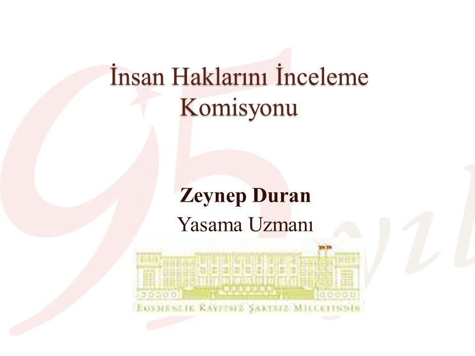 İnsan Haklarını İnceleme Komisyonu Zeynep Duran Yasama Uzmanı