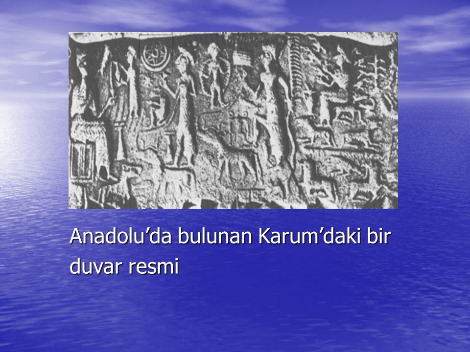 Anadolu'da bulunan Karum'daki bir duvar resmi