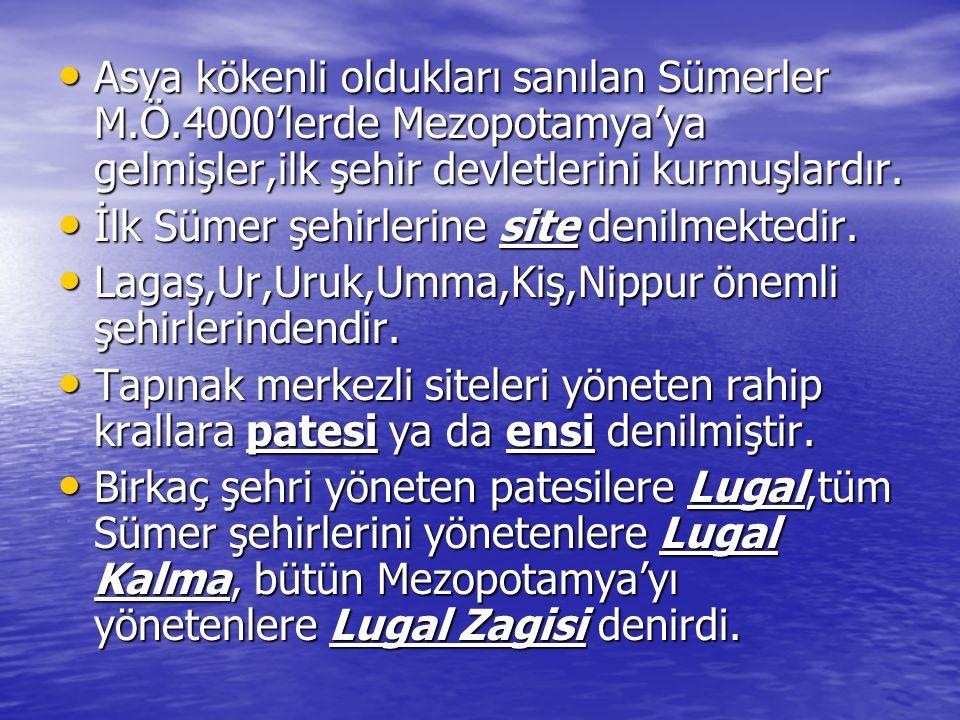 Sümer yönetiminin esası tapınak ekonomisine dayanır.