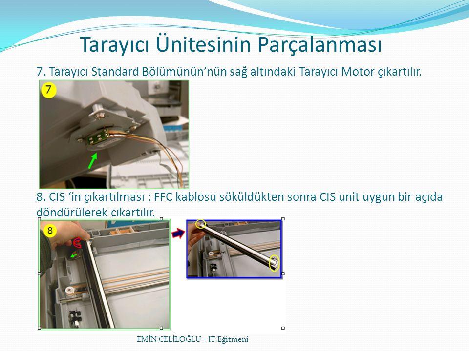 Tarayıcı Ünitesinin Parçalanması EMİN CELİLOĞLU - IT Eğitmeni 7.