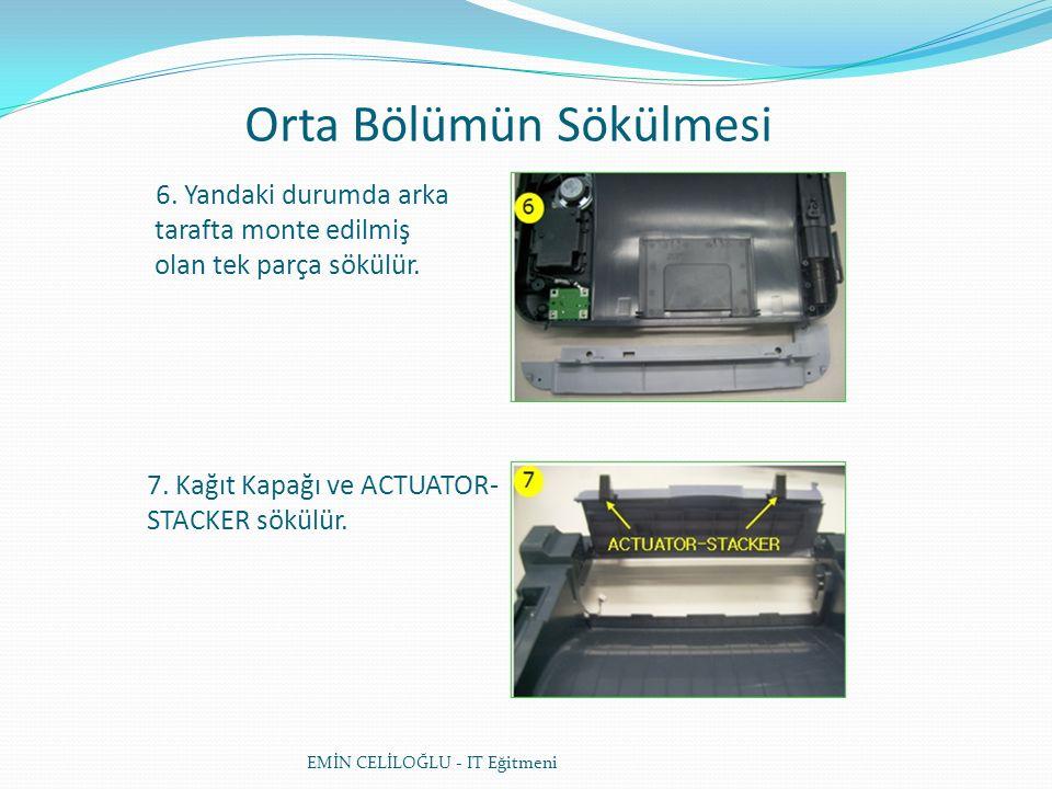 Orta Bölümün Sökülmesi EMİN CELİLOĞLU - IT Eğitmeni 6.