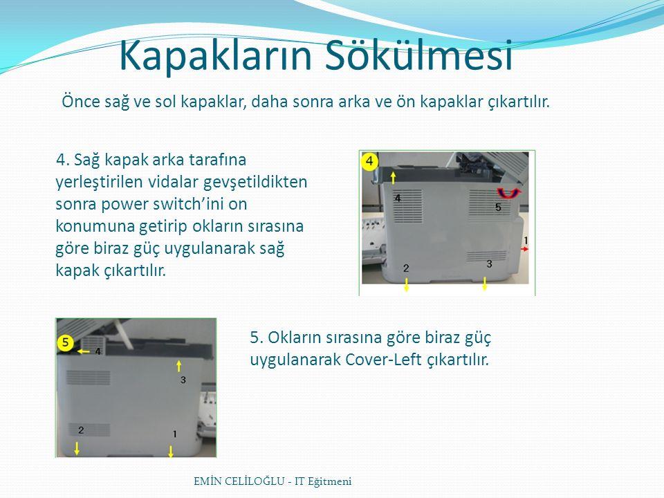 Kapakların Sökülmesi EMİN CELİLOĞLU - IT Eğitmeni 6.