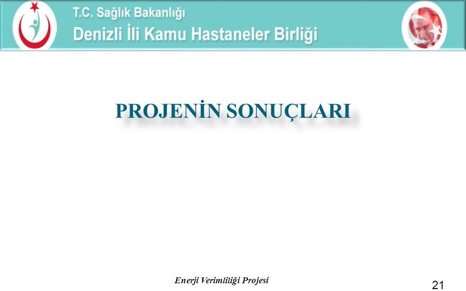 Enerji Verimliliği Projesi PROJENİN SONUÇLARI 21