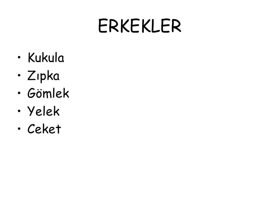 ERKEKLER Kukula Zıpka Gömlek Yelek Ceket