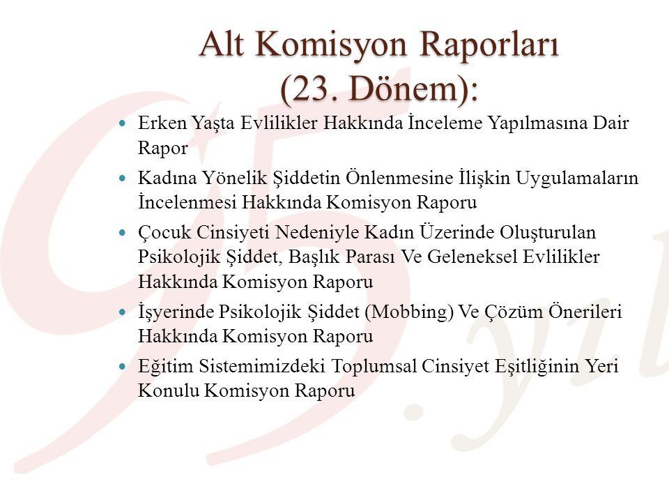 Alt Komisyon Raporları (24.