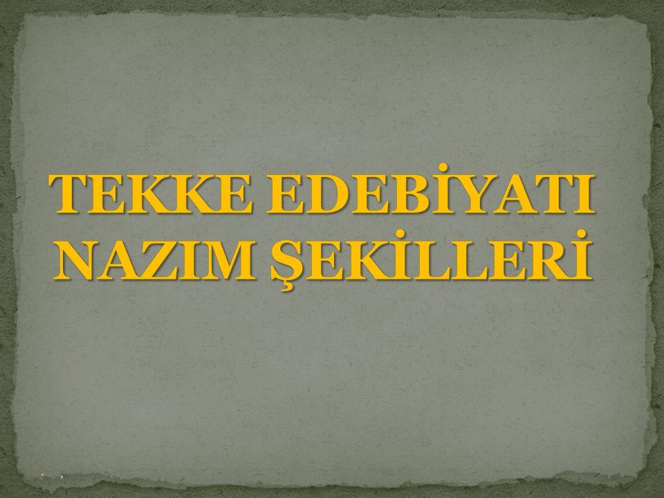 Dini-tasavvufi Türk şiiri nazım şeklidir.