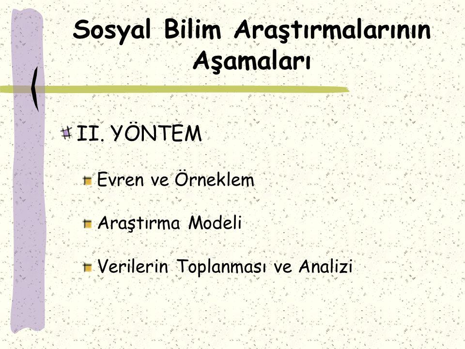 Sosyal Bilim Araştırmalarının Aşamaları II.