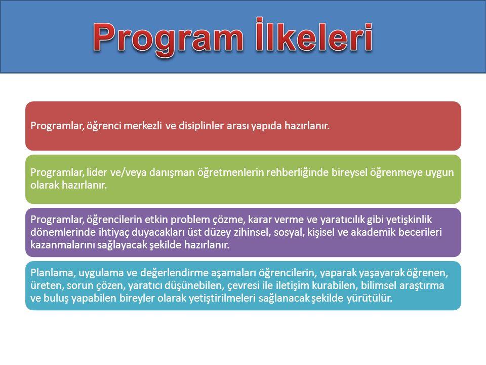 Programlar, öğrenci merkezli ve disiplinler arası yapıda hazırlanır.