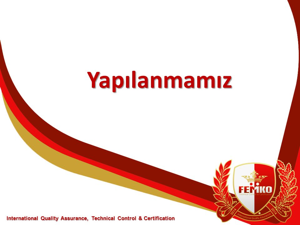 Yapılanmamız International Quality Assurance, Technical Control & Certification