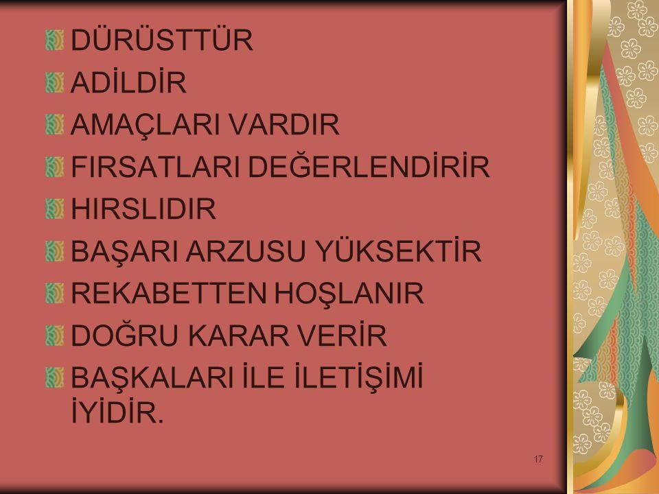 16 BAŞARILI İNSANLARIN ÖZELLİKLERİ ( Prof. Dr.