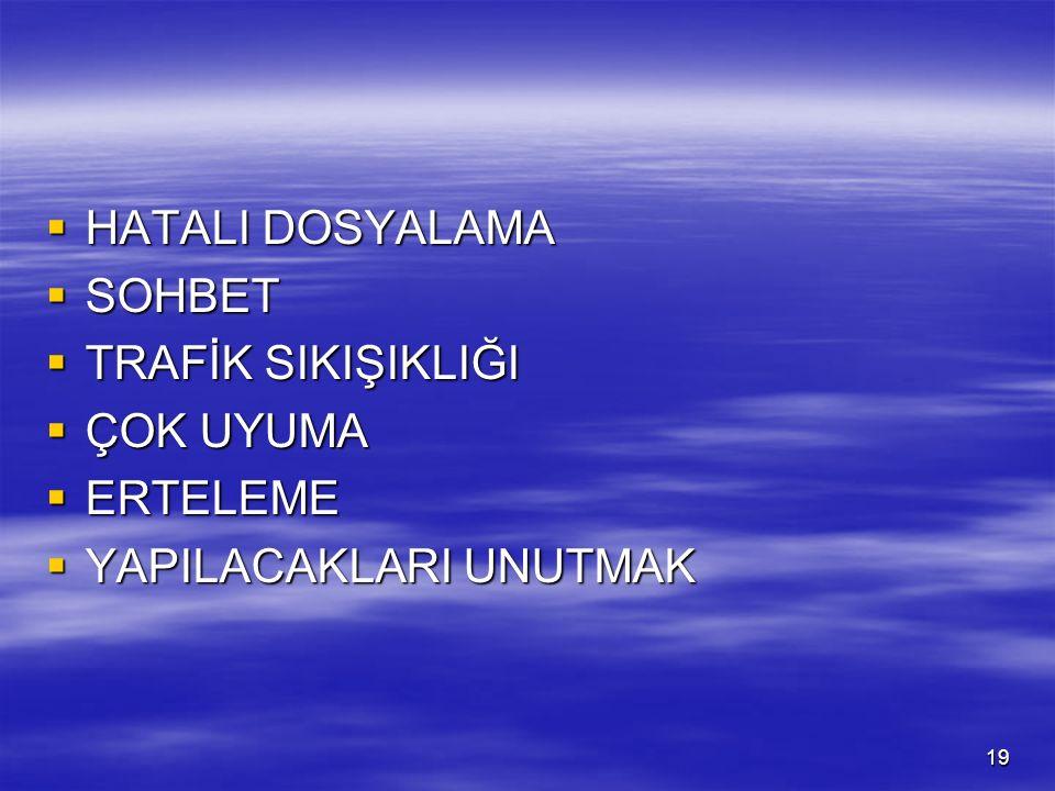 ZAMAN KAYBININ SEBEPLERİ ( Prof. Dr.