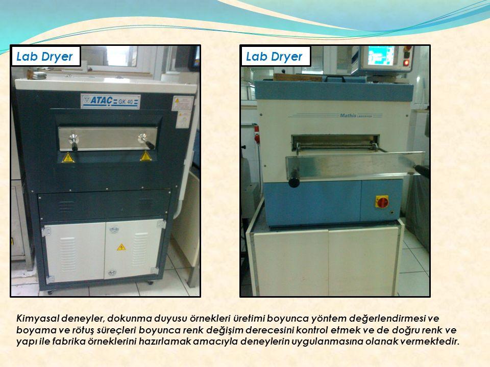 Lab Dryer Kimyasal deneyler, dokunma duyusu örnekleri üretimi boyunca yöntem değerlendirmesi ve boyama ve rötuş süreçleri boyunca renk değişim dereces