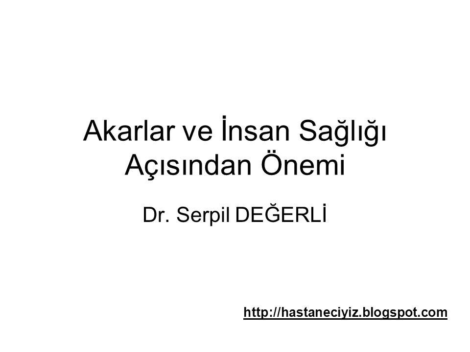 Akarlar ve İnsan Sağlığı Açısından Önemi Dr. Serpil DEĞERLİ http://hastaneciyiz.blogspot.com