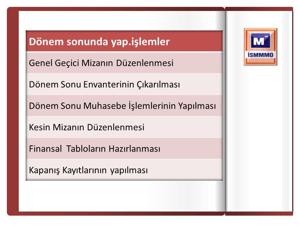 İSTANBUL SERBEST MUHASEBECİ MALİ MÜŞAVİRLER ODAS I İSTANBUL CHAMBER OF CERTIFIED PUBLIC ACCOUNTANTS İSTANBUL SERBEST MUHASEBECİ MALİ MÜŞAVİRLER ODAS I İSTANBUL CHAMBER OF CERTIFIED PUBLIC ACCOUNTANTS 23/11/2013 689 DİĞER OLAĞANDIŞI GİD.ZAR.