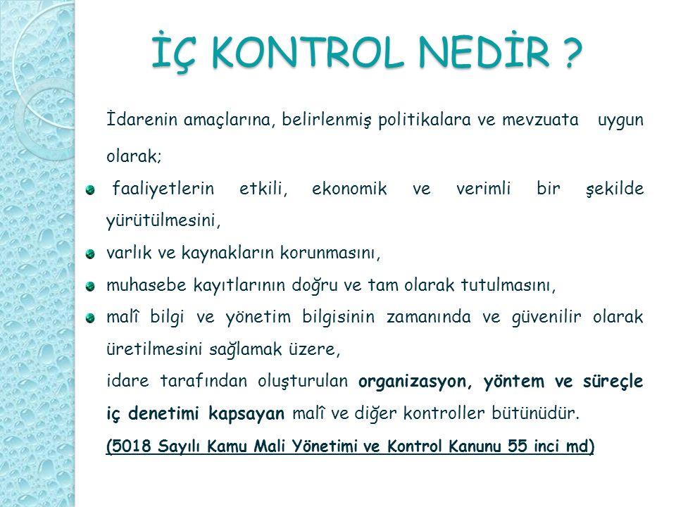 İÇ KONTROL NEDİR .