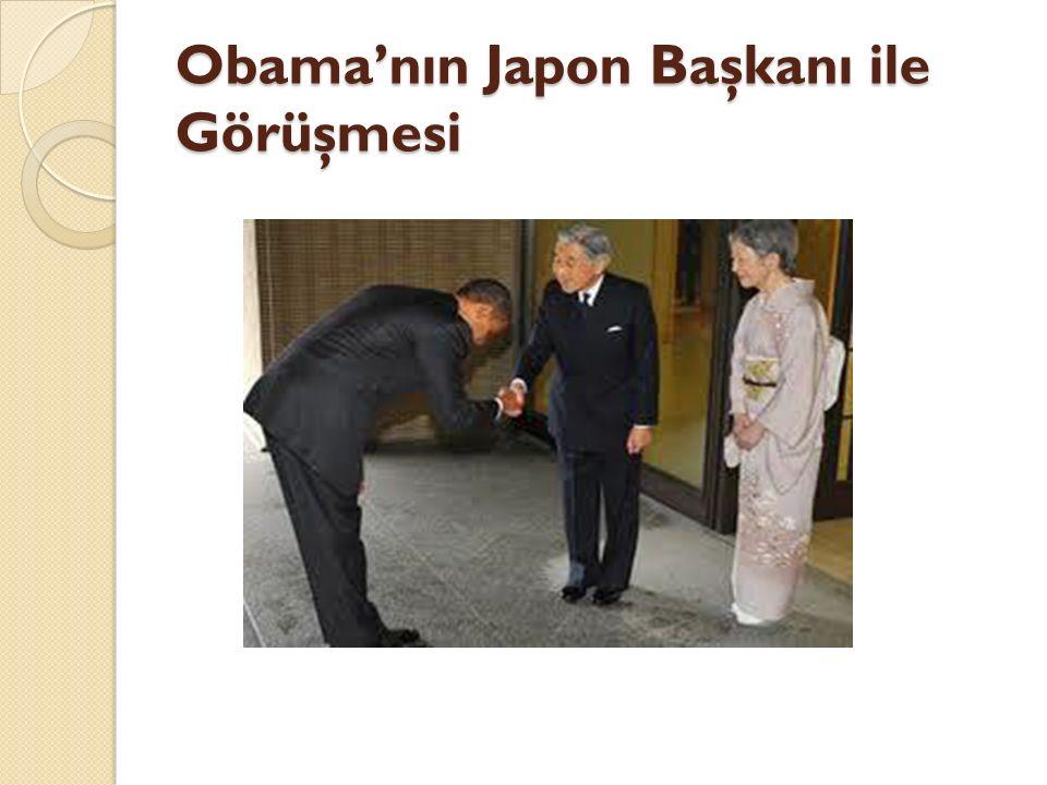 Obama'nın Japon Başkanı ile Görüşmesi