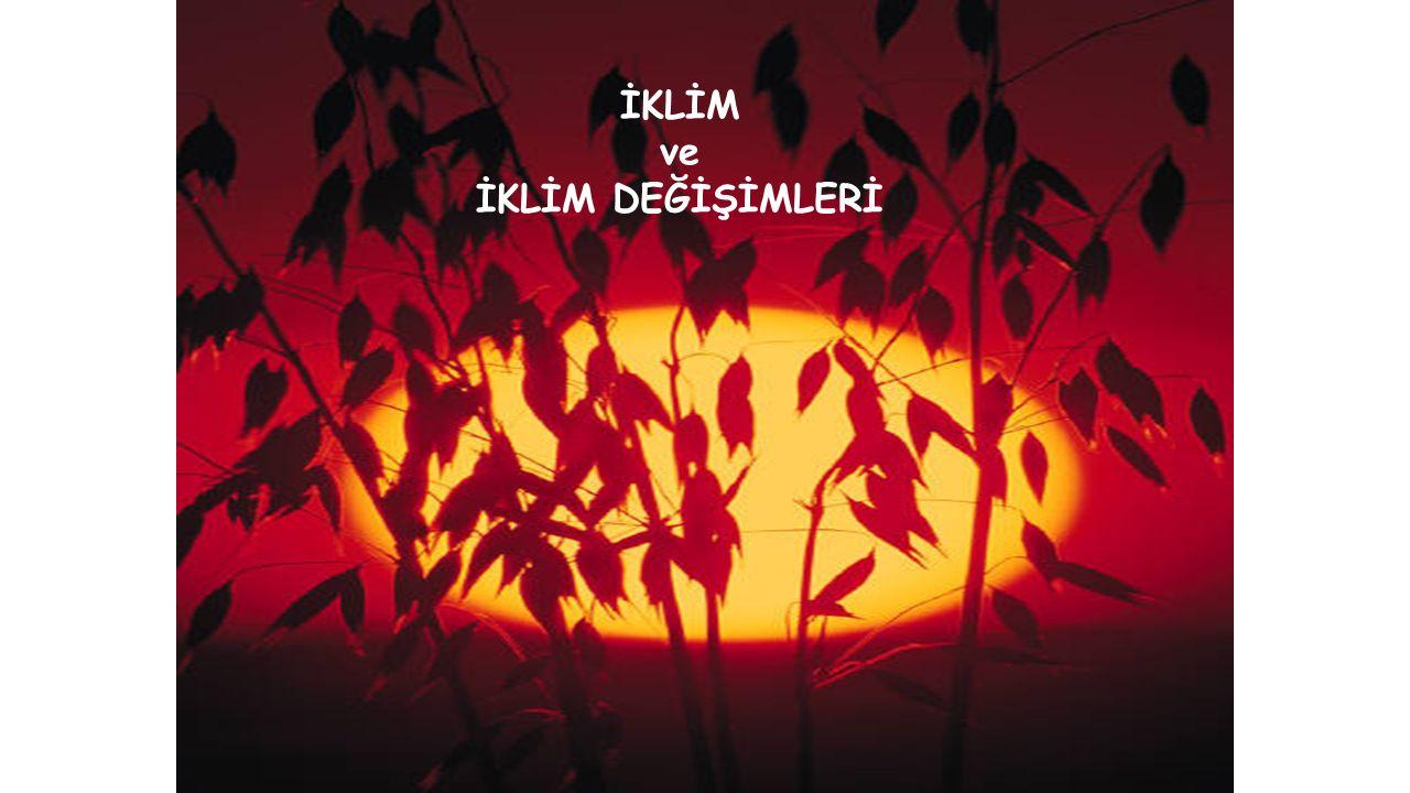 Y.Doç.Dr. Mahnaz Gümrükçüoğlu İKLİM ve İKLİM DEĞİŞİMLERİ