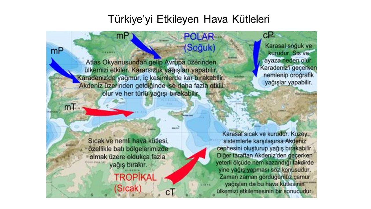 Türkiye'yi Etkileyen Hava Kütleleri