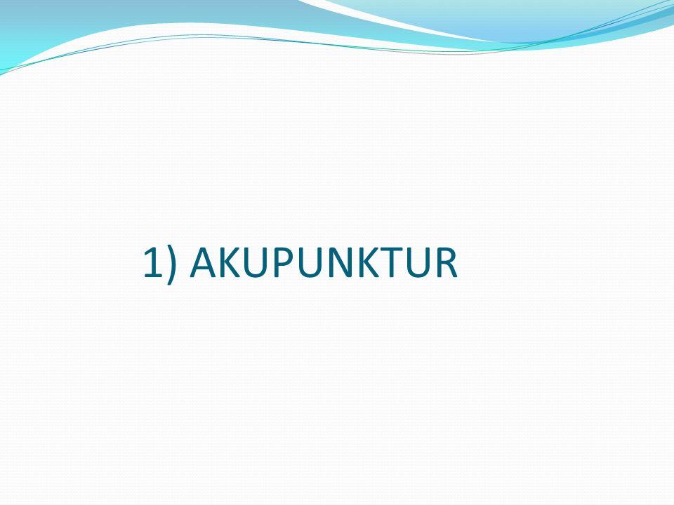 1) AKUPUNKTUR