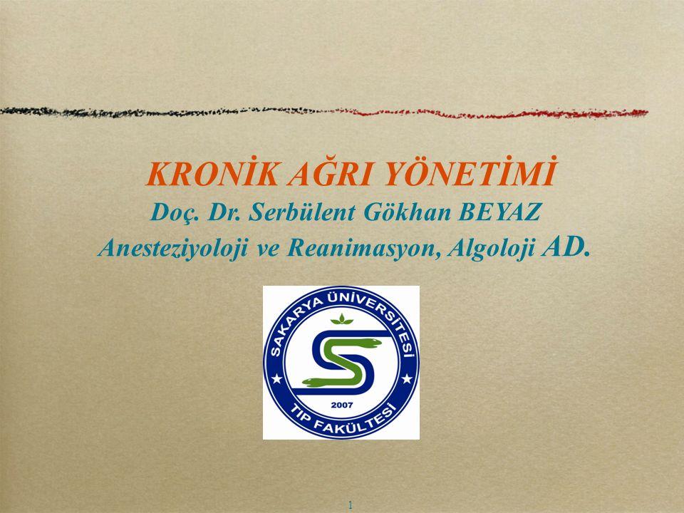 Spinal Kord Stimülasyonu Kronik non malign ağrılarda kullanılır.
