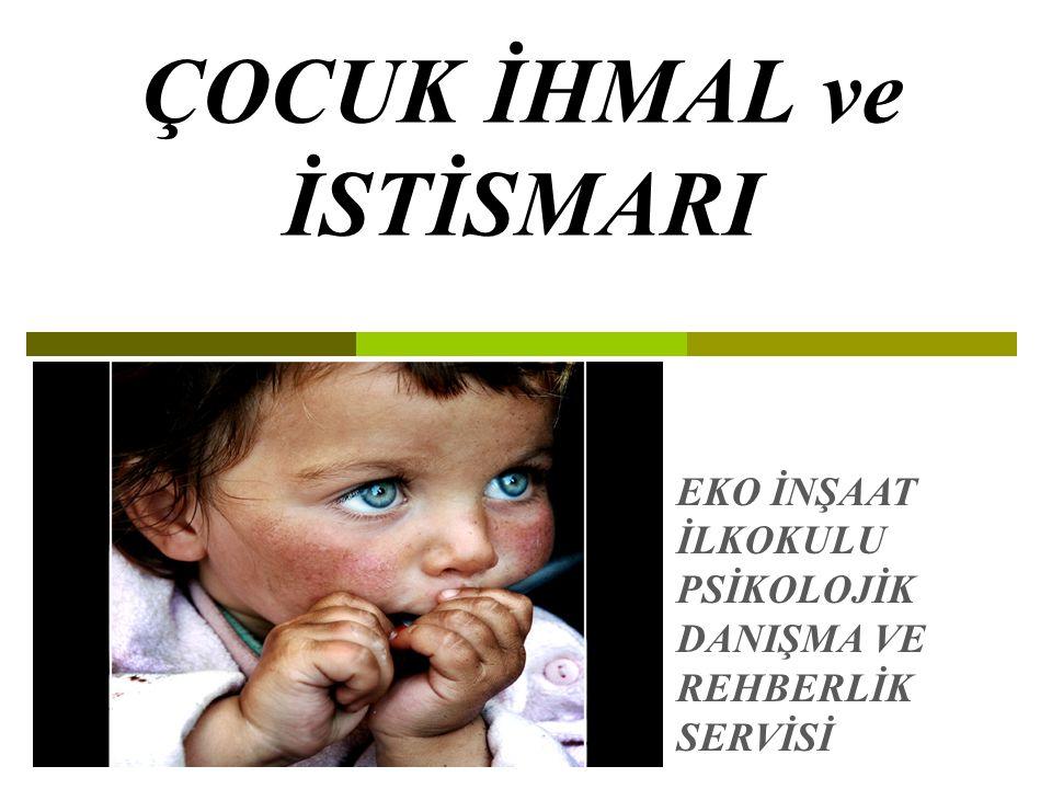 Neden Çocuk İhmali Ve İstismarı Semineri  Çünkü; Türkiye'de her gün çocuklar mutlaka ya duygusal istismar ya fiziksel istismar ya da cinsel istismara maruz kalıyor  Çünkü; Türkiye'de her 5 kız çocuğundan 2'si,her 10 erkek çocuğundan 3'ü cinsel istismara maruz kalıyor  Öğretmenlerin kilit noktada yer alması,  Öğretmenlerin öğrenci ile her gün iletişim halinde olması, Öğrenciyi gözlemleyebilmesi, öğrencide yaşanacak olan değişikliği fark etme olasılığının olması…  Öğretmenlerin farkındalık düzeylerinin yüksek olması  Toplumdaki bireylere göre öğrenci davranışlarını değerlendirme konusunda uzman konumunda olması  Çocuk üzerinde oluşabilecek olası riskleri en aza indirgeyebilecek konum ve bilgiye sahip olması  Amacımız çocuk ihmal ve istismarı konusunda öğretmenlere açıklayıcı bilgi aktarmaktır.