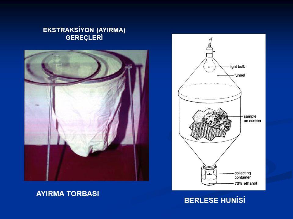 EKSTRAKSİYON (AYIRMA) GEREÇLERİ BERLESE HUNİSİ AYIRMA TORBASI