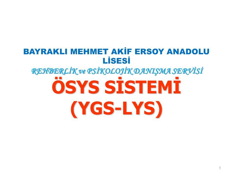 YGS-2 ile Hangi 2 Yıllıklar Kazanılır.