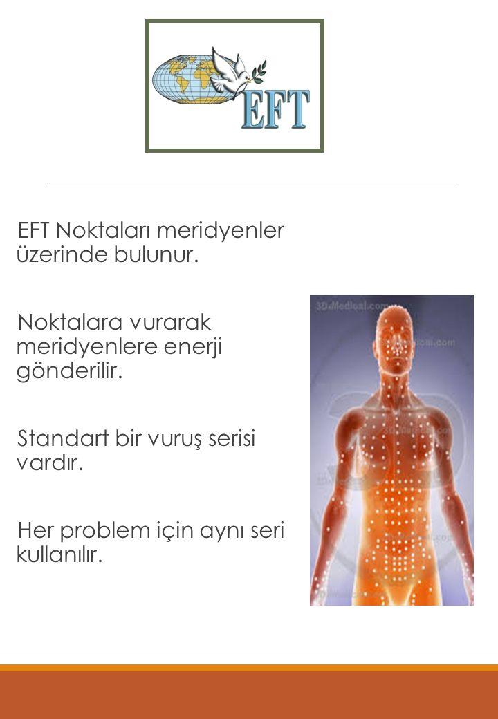 Uygulama EFT Noktaları meridyenler üzerinde bulunur.